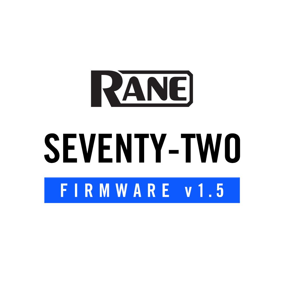 RANE SEVENTY-TWO 1.5 Firmware Update